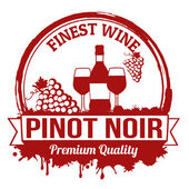 Pinot noir wine stamp — Stock Vector