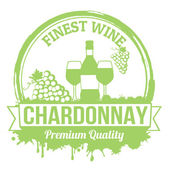 Chardonnay stamp — Vetorial Stock