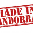 Made in Andorra stamp — Stock Vector #46343911
