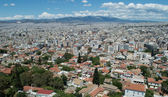 Athens as seen from the Acropolis — Stock Photo