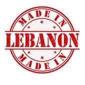 Made in Lebanon stamp — Stock Vector