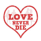 Love never die stamp — Stok Vektör
