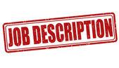 Job description stamp — Stock Vector