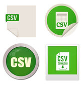 Csv icon set — Stock Vector