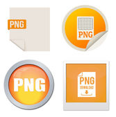 Png icon set — Stock Vector