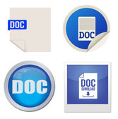 Doc icon set — Stock Vector