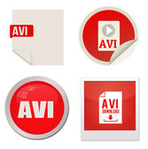 Avi icon set — Stock Vector