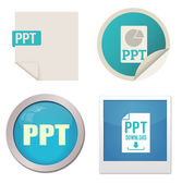 Ppt icon set — Stock Vector