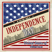 American Independence Day poster — Stock Vector