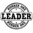 Number one, leader stamp — Stock Vector