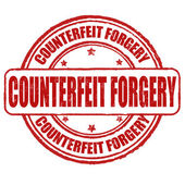 Counterfeit forgery  stamp — Stock Vector