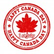 Happy Canada day stamp — Stock Vector