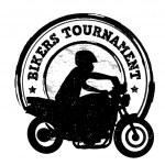 Bikers tournament stamp — Stock Vector