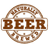 Naturally brewed beer stamp — Stock Vector