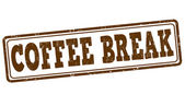 Coffee break stamp — Vetor de Stock