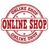 Online shop stamp — ストックベクタ