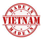 Made in Vietnam stamp — Stock Vector