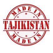 Made in Tajikistan stamp — Stock Vector