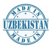 Made in Uzbekistan stamp — Stock Vector