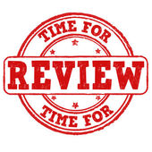 Time for review stamp — Stock Vector