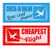 Cheapest flight and low cost coupons — Stock Vector