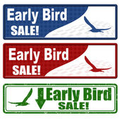 Early bird sale coupons — Stock Vector