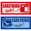 Early bird sale coupons — Stock Vector #48458059