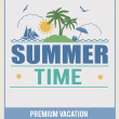 Retro summer time poster — Stock Vector