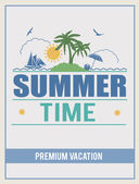 Retro summer time poster — Stockvektor