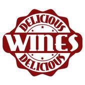 美味しいワイン スタンプまたはラベル — ストックベクタ
