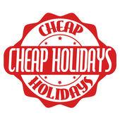Cheap holidays stamp or label  — ストックベクタ