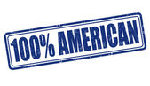 100 percent american stamp — Vetorial Stock