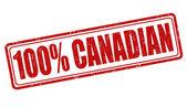 100 percent canadian stamp — Vetorial Stock