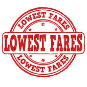 Lowest fares stamp — Wektor stockowy