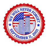 We will never forget stamp — Stock Vector