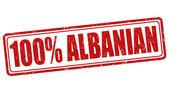 100 percent albanian stamp — Vetorial Stock