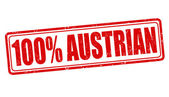 100 percent austrian stamp — Vetorial Stock