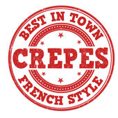 Best in town crepes stamp — Stock Vector