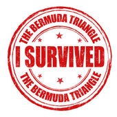 I survived the Bermuda Triangle stamp — Stock Vector
