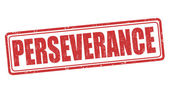 Perseverance stamp — Stock Vector