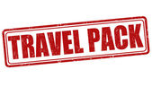 Travel pack stamp — Stock Vector
