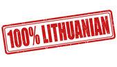 Timbro lituano 100 per cento — Vettoriale Stock