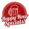 Happy hour specials stamp — ストックベクタ