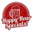 Happy hour specials stamp — Vecteur