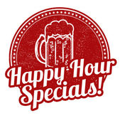 Happy hour specials stamp — Vector de stock