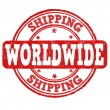 Shipping worldwide stamp — Stock Vector #48963635