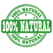 100 percent natural stamp — Stock Vector #48963735