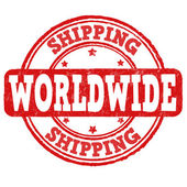 Shipping worldwide stamp — ストックベクタ