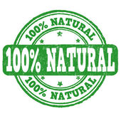 100 percent natural stamp — Stock Vector