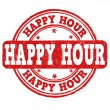 Happy hour stamp — Stock Vector #49115389